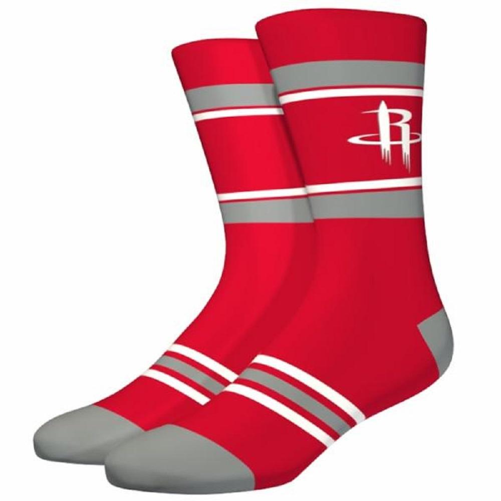 NBA Houston Rockets Men's Large Red Stripe Crew Socks by Stance Fits 6-12