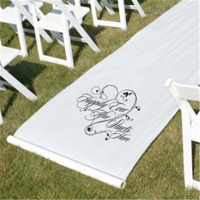 Happily Ever After Aisle Runner - White - image 1 of 1
