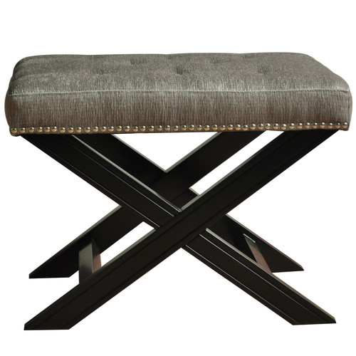 Crestview Collection Fifth Avenue with Nailhead Trim Accent Stool