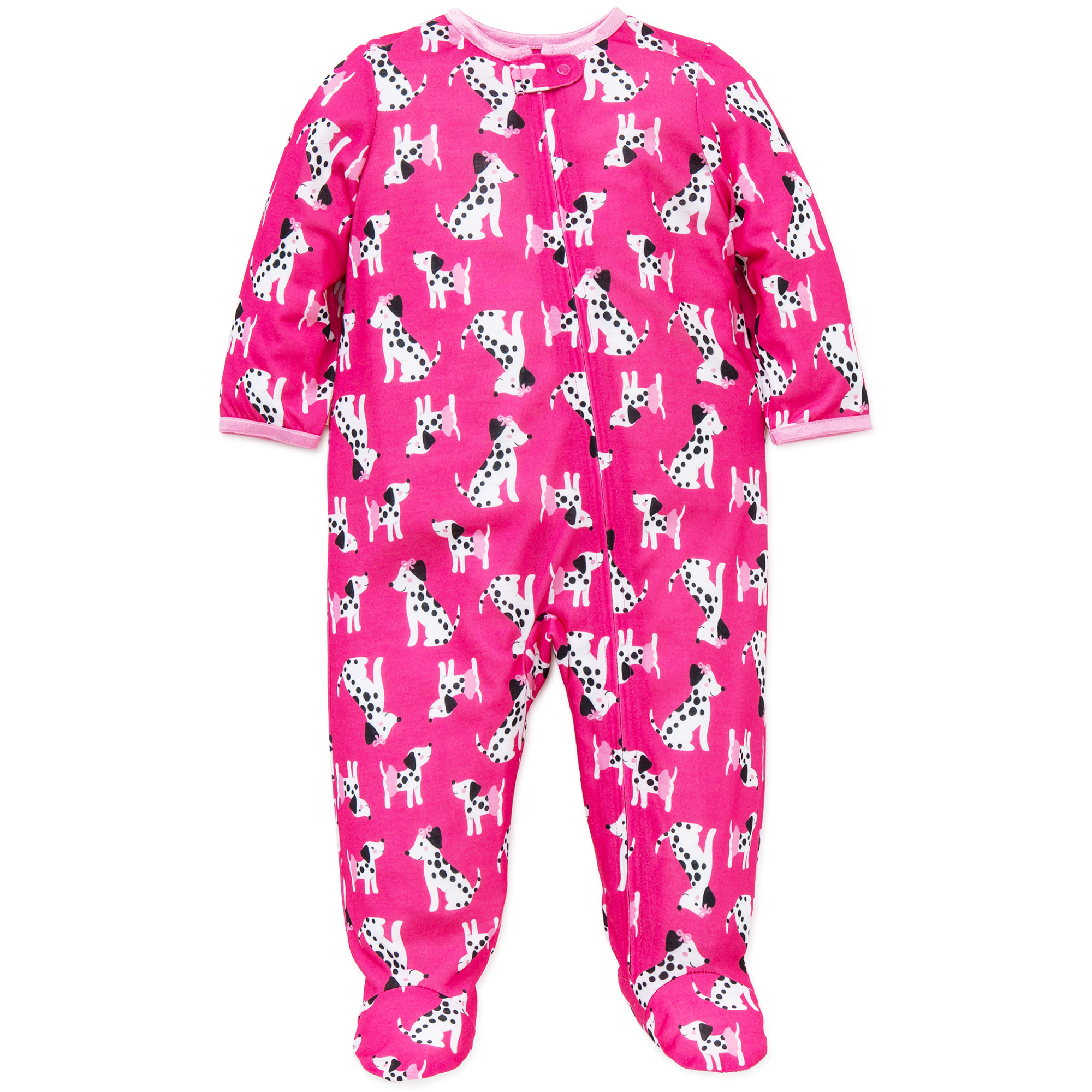 0568a7616 Little Me - Little Me Baby Girls Dalmatian Soft Zip Footie Pajamas ...