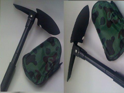 New 2x folding shovels three positions for shoveling and diging with compass survival tool emergency garden by MHG