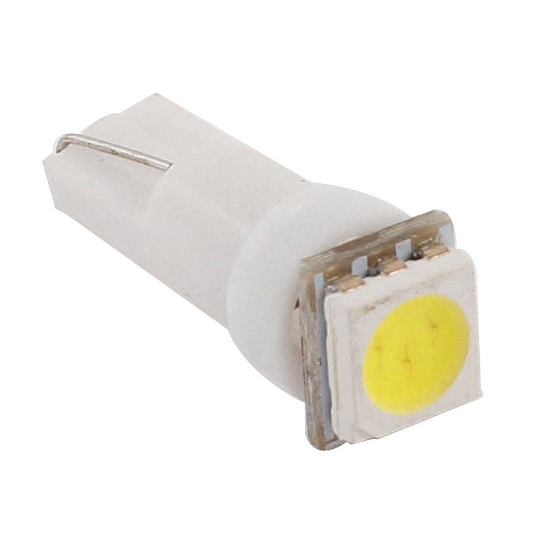 1 White 5050 SMD LED T5 Wedge 12v Interior LED Bulb