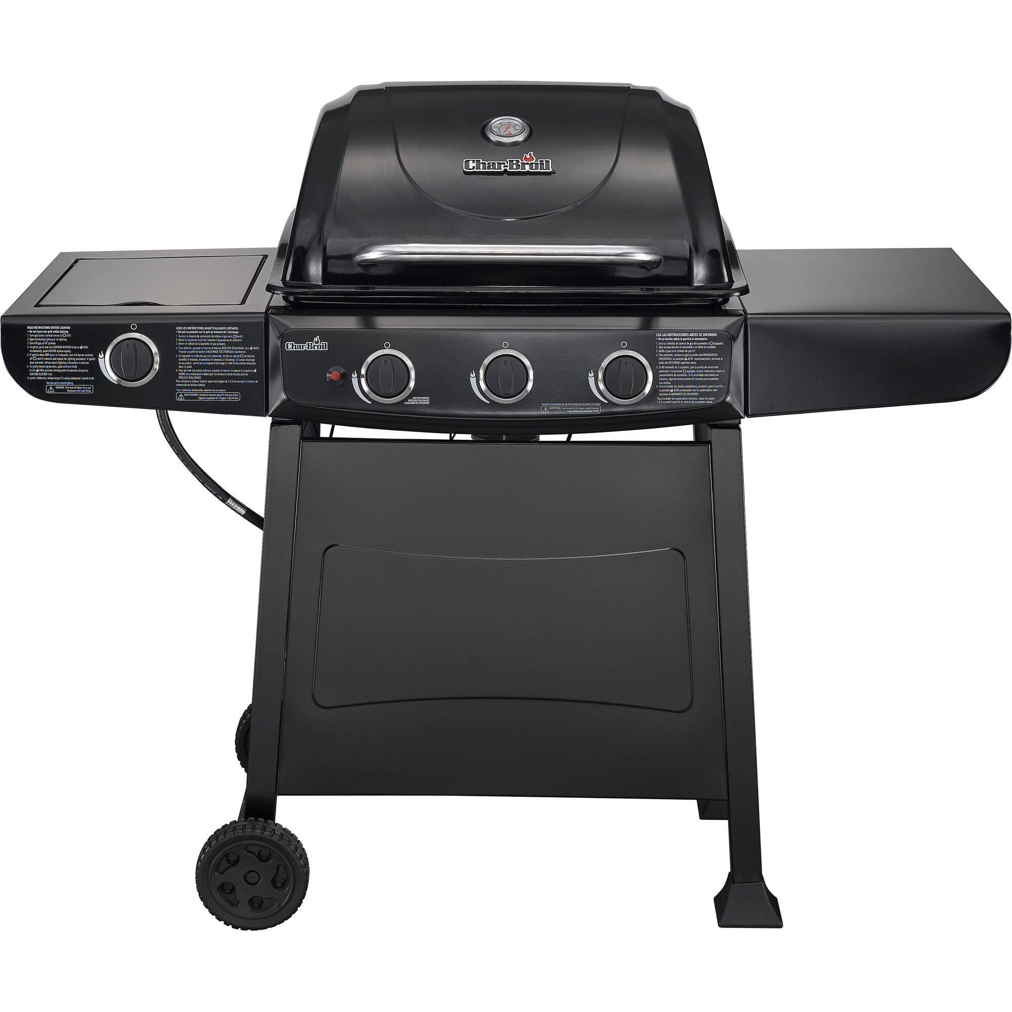 char broil 4 burner gas grill with side burner stainless. Black Bedroom Furniture Sets. Home Design Ideas