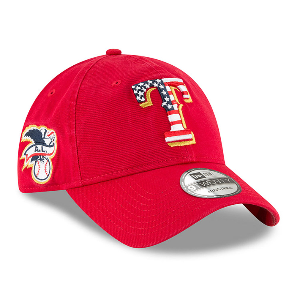 info for d4590 0ebe2 ... discount code for texas rangers new era 2018 stars stripes 4th of july  9twenty adjustable hat