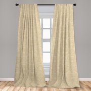 """Beige Curtains 2 Panels Set, Unusual Swirled Floral Patterns Style Motifs in Boho Design Print, Window Drapes for Living Room Bedroom, 56""""W X 84""""L, Beige, by Ambesonne"""