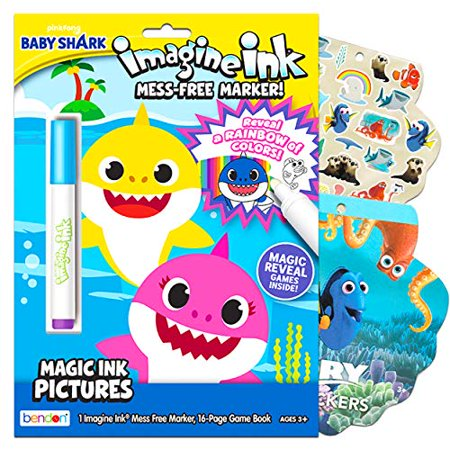 Baby Shark Coloring and Activity Book Set ~ Bundle ...