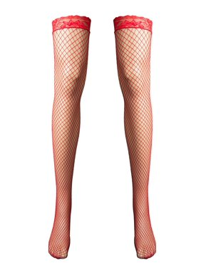 092029aa5f6 Product Image Women s Adult Lingerie Night Wear Lace Fishnet Thigh-High  Stocking. Product Variants Selector. Red Black. Aerusi