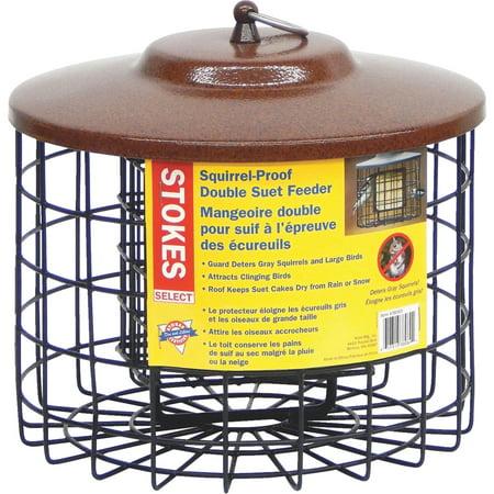 - Stokes Select Squirrel Proof Suet Bird Feeder, Two Suet Cakes Capacity, Black/Brown