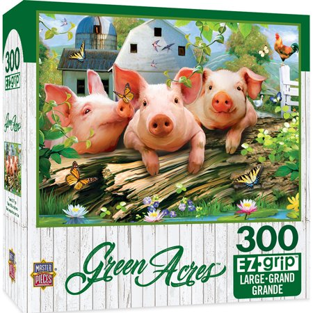 Green Acres Linen - Three 'Lil Pigs Large 300 Piece EZGrip Jigsaw Puzzle - Pig From Saw