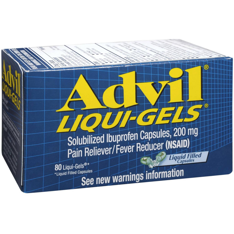 Advil Ibuprofen 200mg Capsules, 80 CT (Pack of 6)