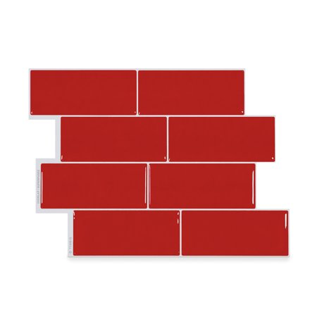 Smart Tiles 11.56 in x 8.38 in Peel and Stick Self-Adhesive Mosaic Backsplash Wall Tile - Metro Sofia (4-Pack) Metro Wall Tiles