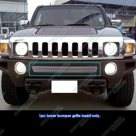 Fits 06-10 Hummer H3 Vertical Lower Bumper Billet Grille Insert #C65246V