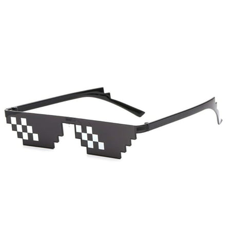 B-KIDS Thug Life Glasses 8-Bit Sunglasses for Men and Women Meme (Cool Sunglasses Meme)