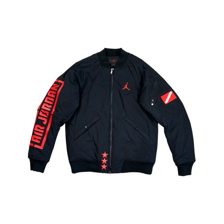 Nike Air Jordan Mens Sportswear Retro 1 Bomber Jacket Black/Infrared BQ6958 010 (S)