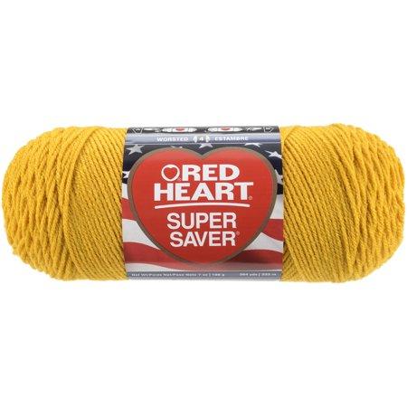 Red Heart Super Saver Yarn Gold Walmart