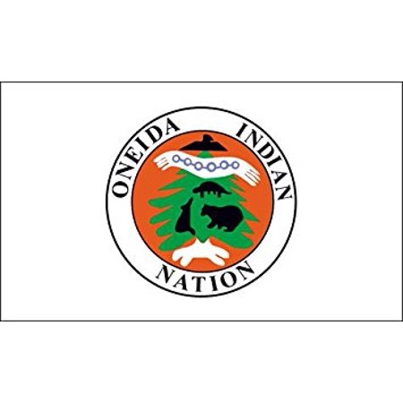 Oneida Indian Nation Flag Sticker Decal (native tribe new york) 3 x 5