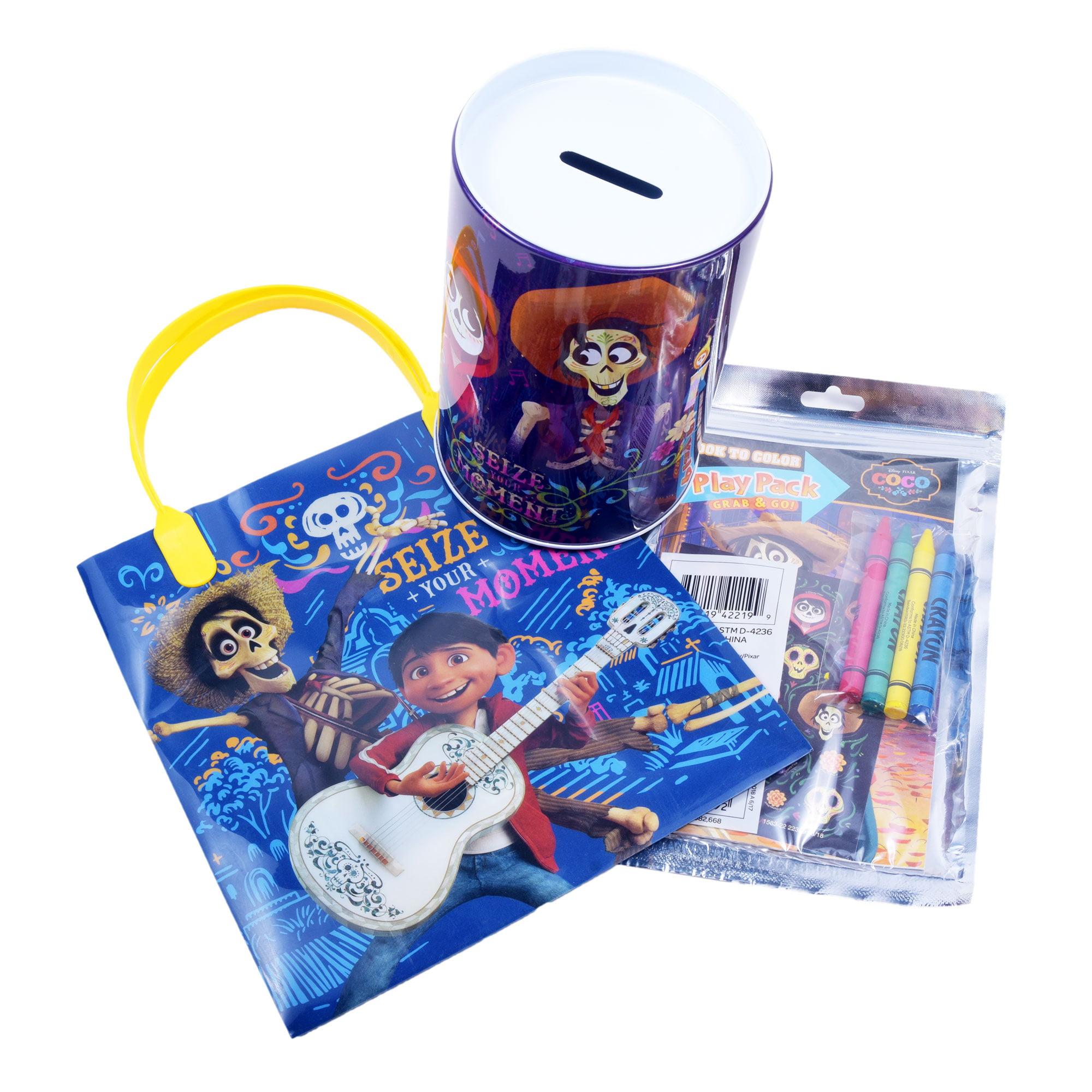 Disney Coco Gift Idea For Boys & Girls (3-pck) Christmas Party Supplies For  Kids Ages 3+ / Coin Jar, Coloring Book & Bag - Walmart.com - Walmart.com