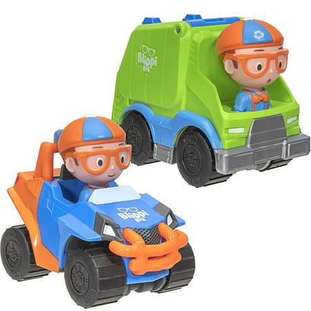 Blippi Mobile & Garbage Truck COMBO of 2 Mini Vehicles