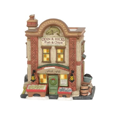 Department 56 Dickens Village Odin R. Hicks Fish and Chips Building 6003072 New ()