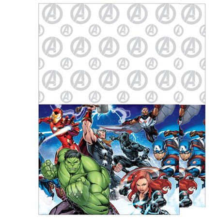Marvel Birthday Party Supplies (Marvel Avengers Iron Man Captain America Hulk and Thor Birthday Party 2 pack Table)