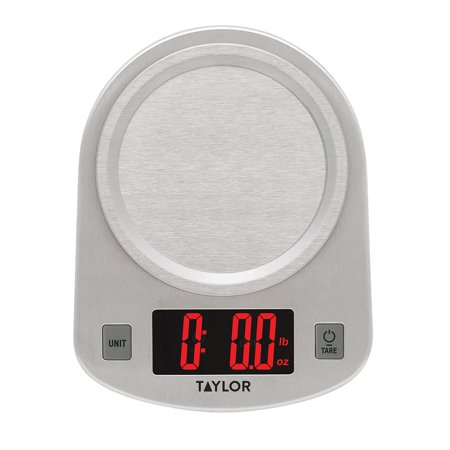 Taylor Digital Stainless Steel LED 11lb Kitchen Scale