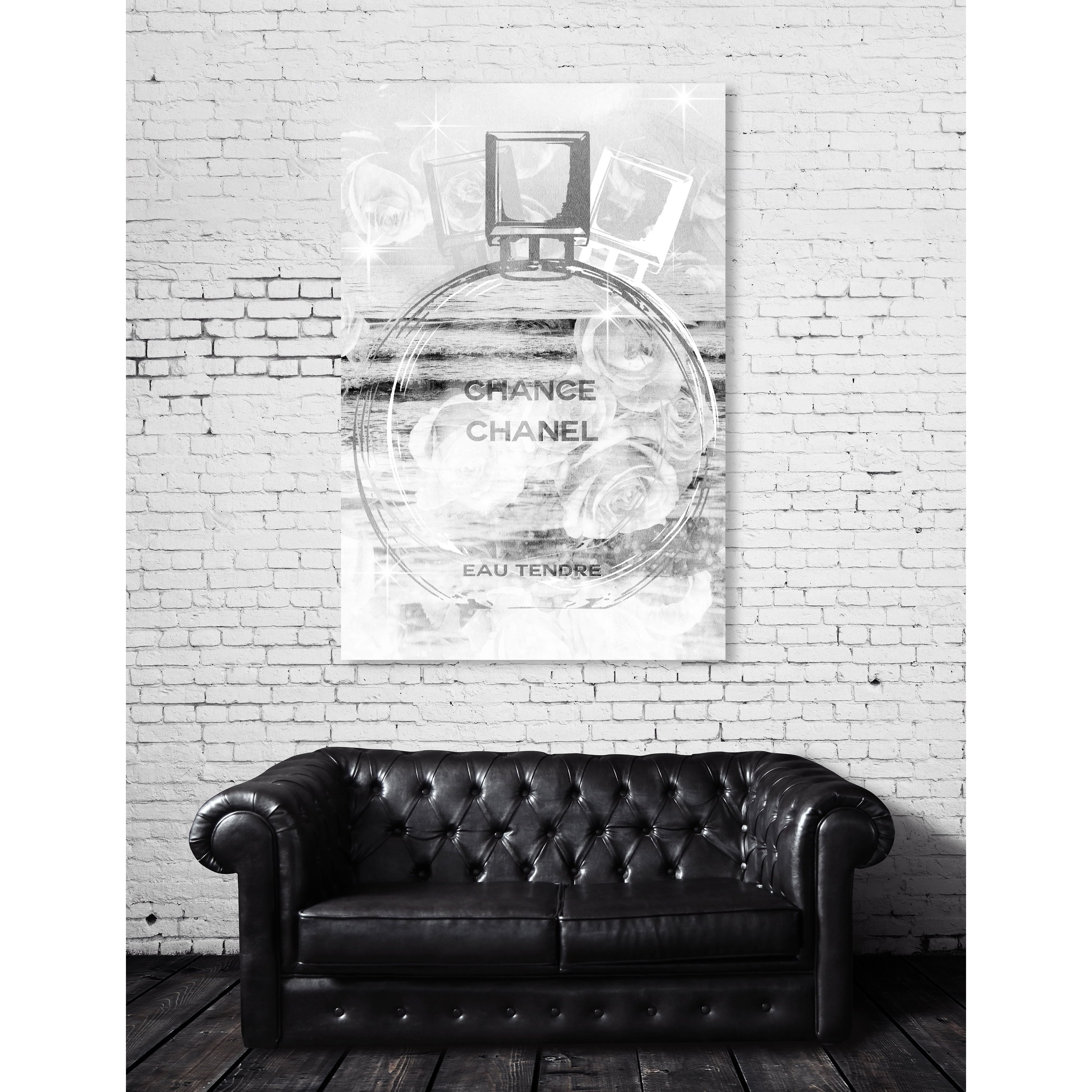 Oliver Gal Glistening Silver Bottle Fashion And Glam Wall Art Canvas Print Gray