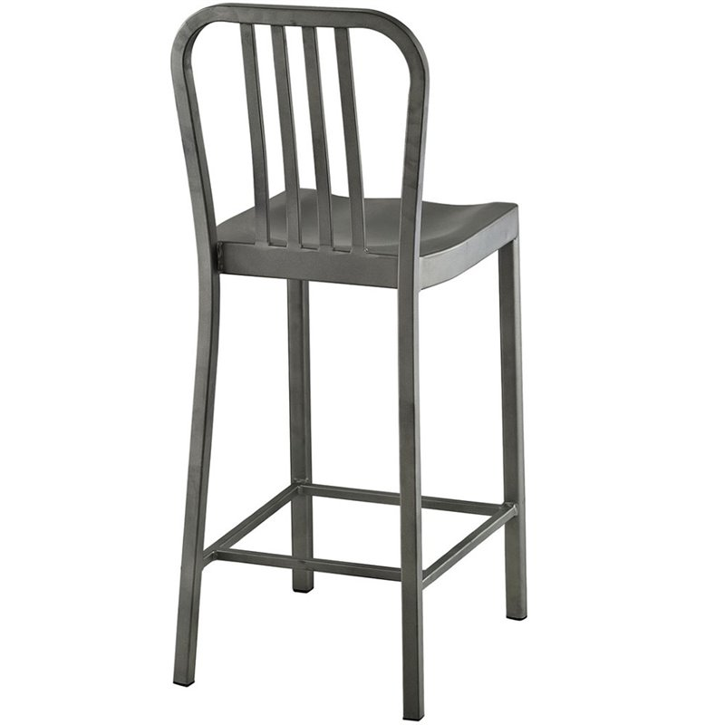 "Hawthorne Collections 26"" Metal Counter Stool in Silver - image 1 of 4"