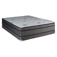 Continental Sleep Foam Encased 13 in. Eurotop SOFT Single-Sided Innerspring Mattress and 5 in. Box Spring