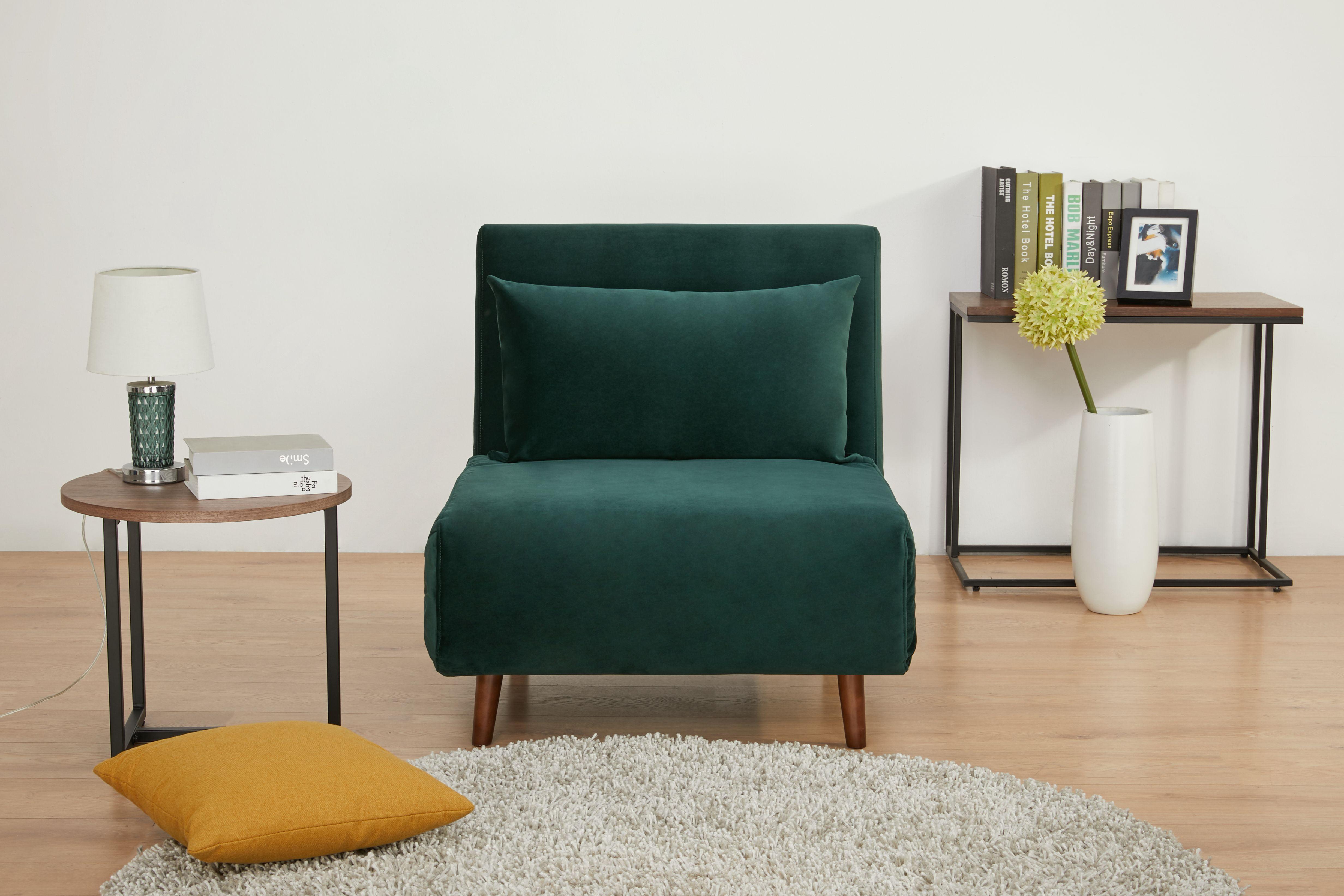 A D Home Tustin Convertible Chair Green Walmart Com Walmart Com