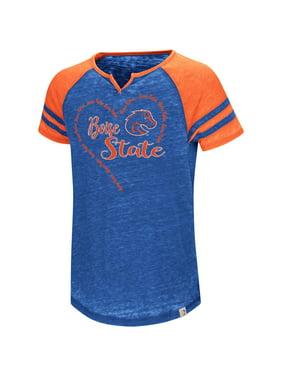 Product Image Boise State Broncos Girl s Shirt Short Sleeve Raglan Tee 459a13fe6