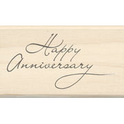 "Inkadinkado Mounted Rubber Stamp LL, Happy Anniversary 1.75"" x 2.5"""