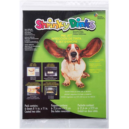 Shrinky dinks for inkjet printers 12 sheet pack for Craft plastic sheets walmart