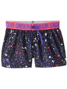 6b990b12663 Product Image Under Armour Big Girl's Play Up Short - Black/White/Penta Pink -Constellation