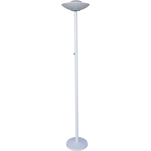ORE International 190W Halogen Torchiere Floor Lamp, White