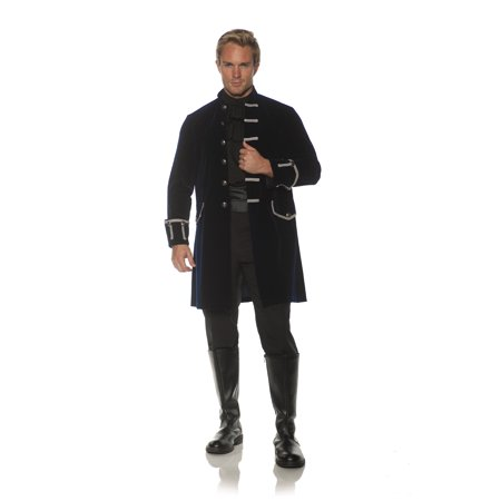 Victorian Costume (Frock Coat Mens Adult Victorian Costume Accessory Navy Blue)