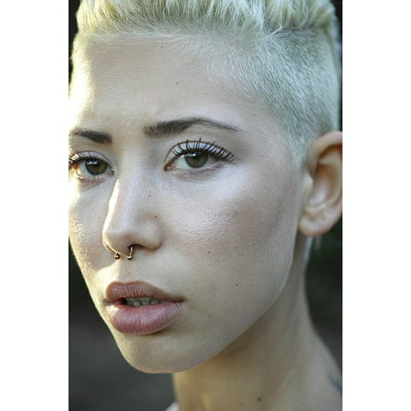 - Canvas Print Short Hair Overview Model Beauty Model Exposure Stretched Canvas 10 X 14