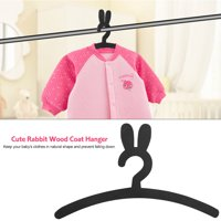 LYUMO Cute Rabbit Wood Coat Hanger Rack Baby Kids Clothes Storage Hangers Home Organization, Kids Clothes Hanger, Wood Clothes Hanger