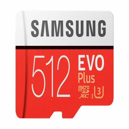 Samsung 512GB MicroSDXC EVO Plus Memory Card with Adapter