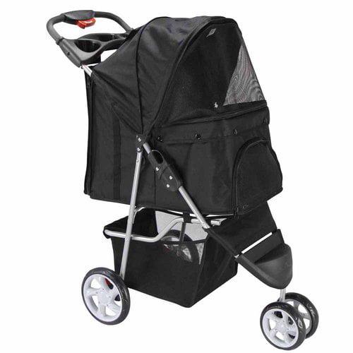 OxGord Pet Stroller Cat/Dog Easy Walk Folding Travel Carriage, 2016 Design