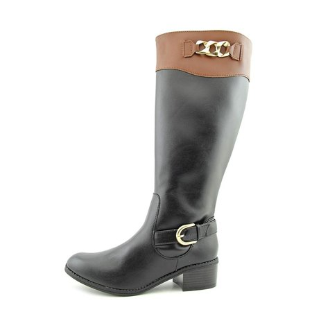 Womens Darlaa Round Toe Mid-Calf Riding Boots