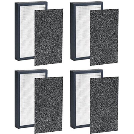True HEPA Filter Replacement for GermGuardian FLT4100 Filter E Fits AC4100 Model By NISPIRA - 4 Filters