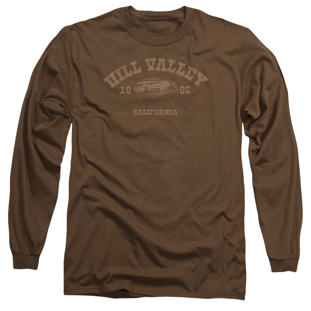 Back To The Future Iii Hill Valley 1885 Mens Long Sleeve Shirt