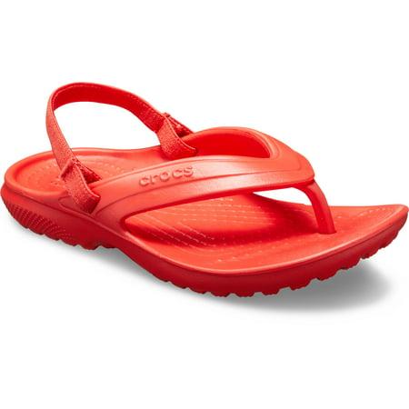 Girls Navy Sandals (Crocs Unisex Junior Classic Flip)