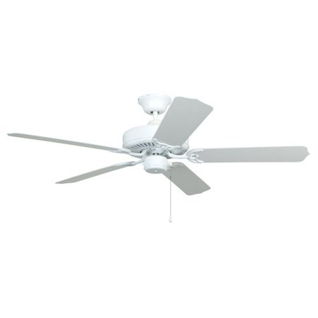 """Chapter 52"""" Ul Rated For Wet Locations, White Ceiling Fan"""