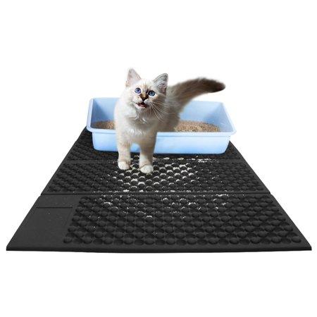 EXCELVAN Cat Litter Mat Litter Trapper Folding Pad Light Weight Waterproof Safe EVA with Soft Lycra Surface Easy To (Water Trapper Mat)