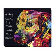 Artistic Home Gallery 'Gratitude Pitbull' by Dean Russo Painting Print on Wrapped Canvas