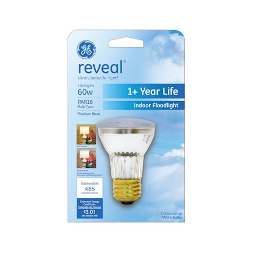GE 82142 Reveal 60-Watt Halogen Floodlight Bulb