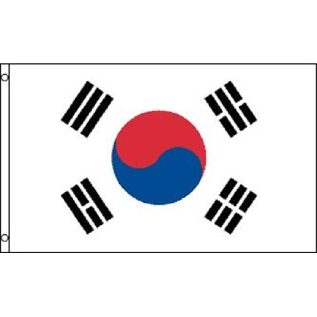 Annin Flagmakers 197603 2 ft. X 3 ft. Nyl-Glo South Korea Flag by Annin Flagmakers