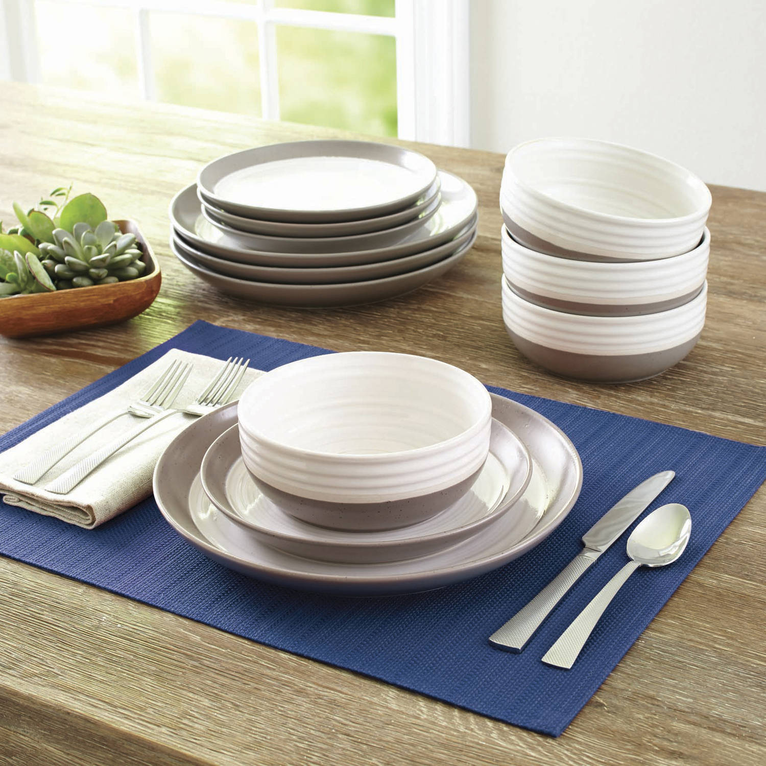 Charmant Better Homes And Garden Ashmoor 12 Piece Dinnerware Set   Walmart.com