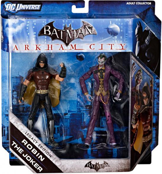 Batman Arkham City Joker and Robin Legacy Figures